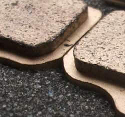 Sintered brake pad detail