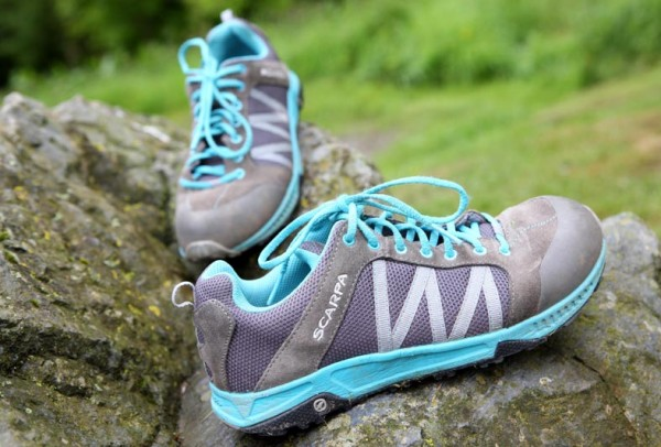 Scarpa approach shoes.