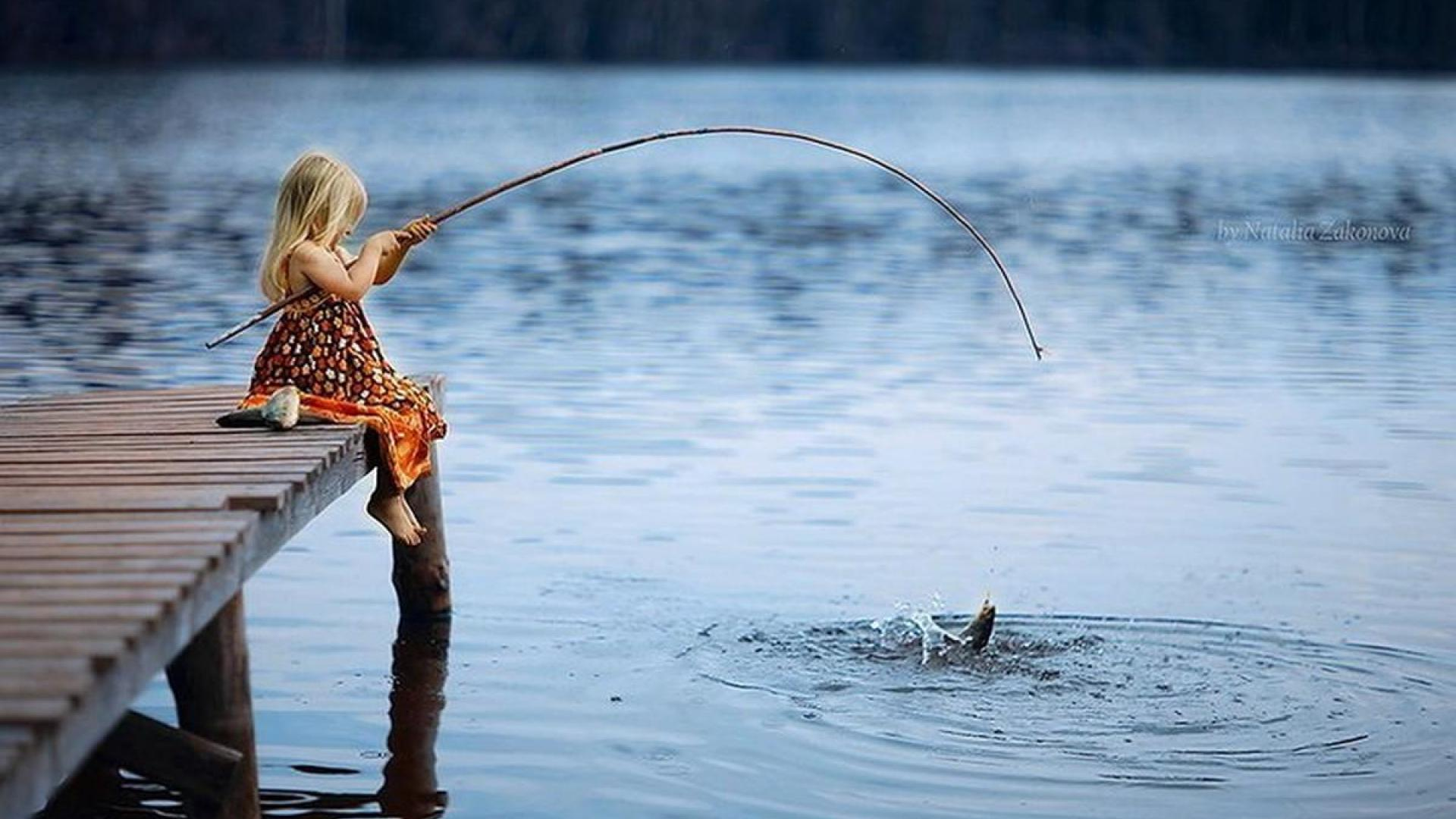 Image result for kid fishing