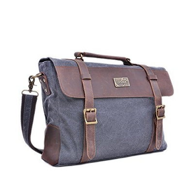 Gootium Retro Vintage Canvas Leather