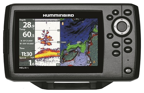 Humminbird helix 5 chirp GPS fish finder