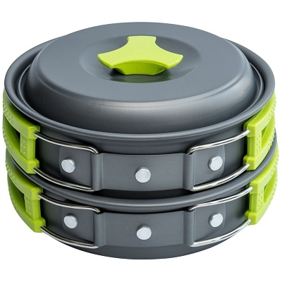 MalloMe Camping Cookware Mess Kit Backpacking Gear
