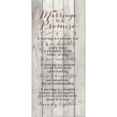 A Marriage Is A Promise Wall Art