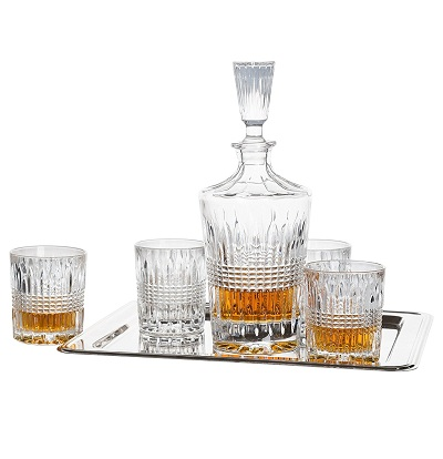 Fitz and Floyd 6-piece Whiskey Barware Set