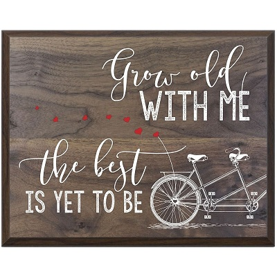 Grow Old With Me Wall Plaque
