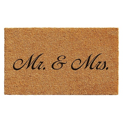Home & More Mr. and Mrs. Doormat