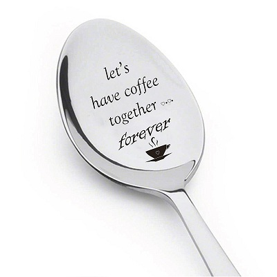 Let's Have Coffee Together Forever Spoon