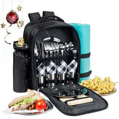 Picnic Backpack for 4 All-in-One Set
