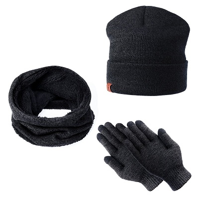 Tagvo Winter Beanie Hat And Scarf Set