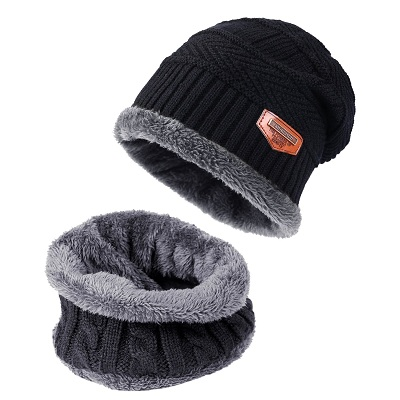Tagvo Winter Beanie Hat Scarf Set
