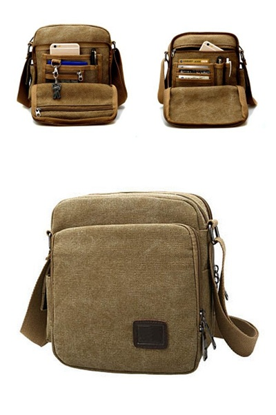 Urmiss Canvas Small Messenger Bag