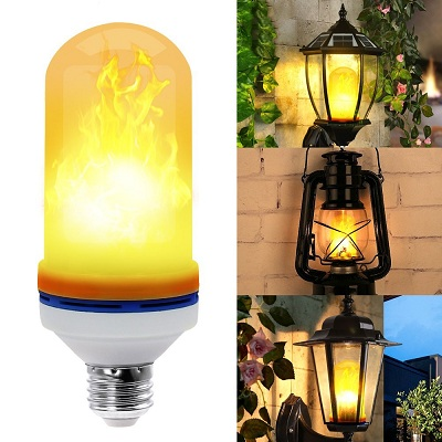 Yeahbeer LED Flame Effect Light Bulb Lamp
