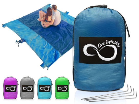 Sand Free Compact Outdoor Beach / Picnic Blanket