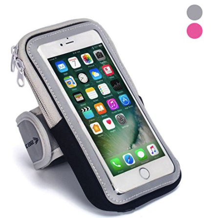 Sports Armband: Cell Phone Holder Case Arm Band Strap With Zipper Pouch