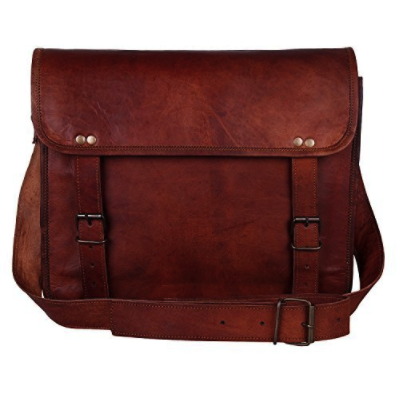 Leather Vintage Rustic Crossbody Messenger Courier Satchel Bag