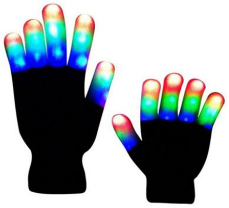 Flashing Colorful LED Light Up Show Gloves