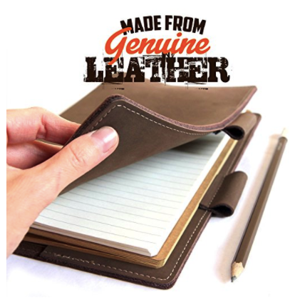 Leather Note book by Snobtool – Genuine Leather Bound Refillable Journal Notebook Diary