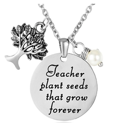 ELOI Teacher Appreciation Gifts, Thank You Gift from Student, Christmas Gifts for Teacher, Personalized Teacher Pendant Necklace