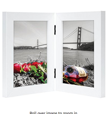 Frametory, 5x7 Inch Hinged Picture Frame with Glass Front