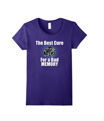 The Best Cure For a Bad Memory Photographer Shirts