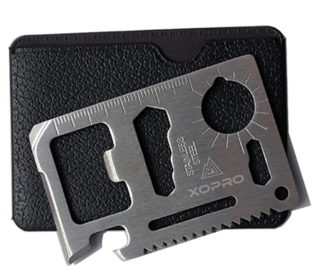 11 in 1 Credit Card Multitool Knife Saw By XOPRO