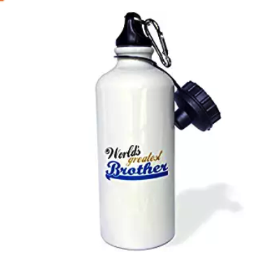 Worlds Greatest Brother-Best Bro-for Little Or Big Brothers-Family Relations Relationship Gift Sports Water Bottle