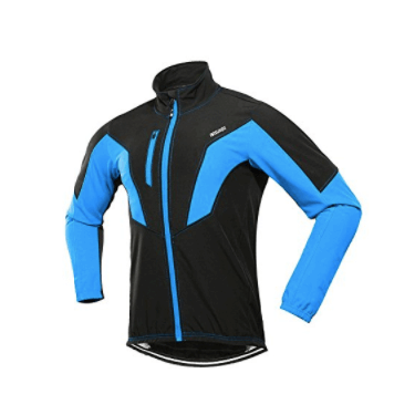 ARSUXEO Winter Warm UP Thermal Fleece Cycling Jacket Windproof Waterproof Breathable Reflective 17N