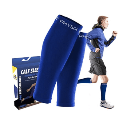 PHYSIX GEAR SPORT Calf Compression Sleeves for Men & Women