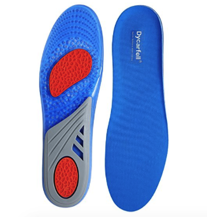 Dycarfell Comfort and Sports Outdoors Energy Work Gel Shoe Insoles