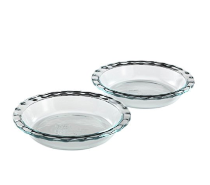 Pyrex 2-Pack Easy Grab Glass Pie Plate