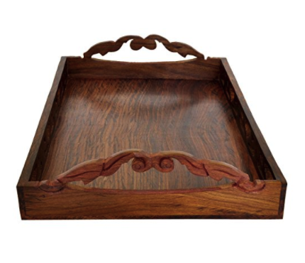 Wood Service Tray for Parties Serve Food