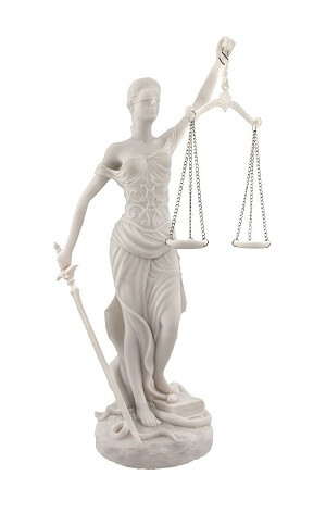 Lady Justice Marble Statue