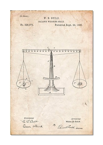 Scales of Justice Patent Poster