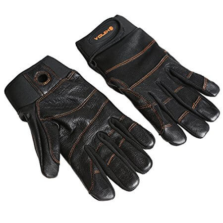 MagiDeal Climbing Leather Gloves