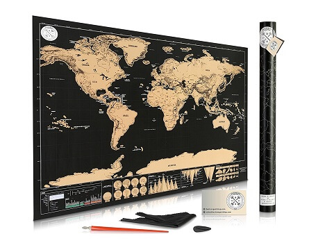 Be Strongest Scratch Off World Map