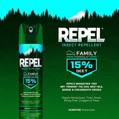 Repel Insect Repellent Scented Family Formula 15% DEET