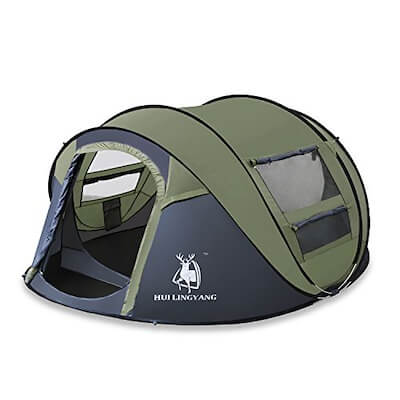 HuiLingYang Outdoor Instant 4-Person Pop Up Dome Tent