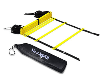 Yes4All Speed Agility Ladder with Carry Bag