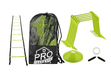 Pro Footwork Agility Ladder and Hurdle Training Set with Carry Bag
