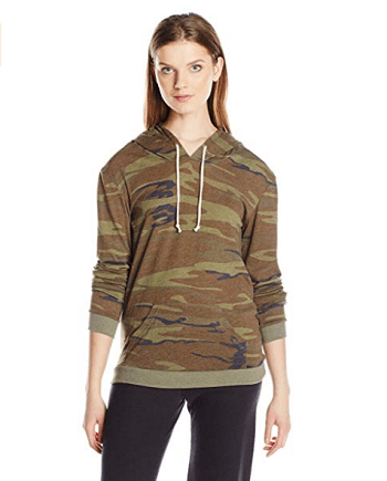 Alternative Women's Eco Jersey Classic Printed Pullover Hoodie
