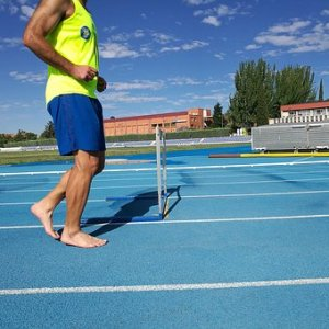 Barefoot Running on a track