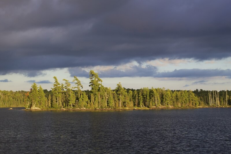 Paddling the Boundary Waters of the lake