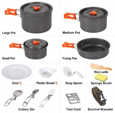 RedCamp Cookware Set Best Gifts for Outdoor Lovers