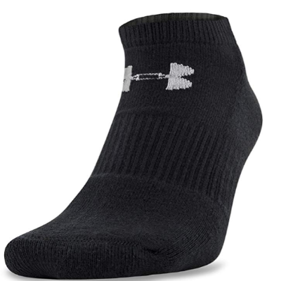 Under Armour Mens Charged Cotton 2.0 No Show Socks