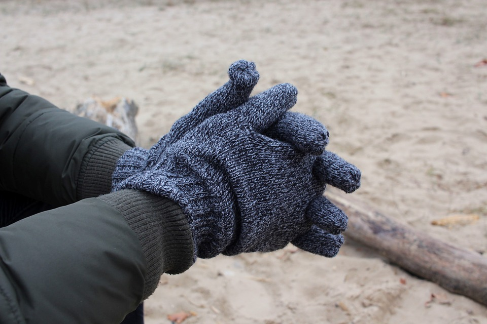 hand warmers and gloves