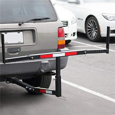 Ecotric Truck Bed Hitch Kayak Trailer