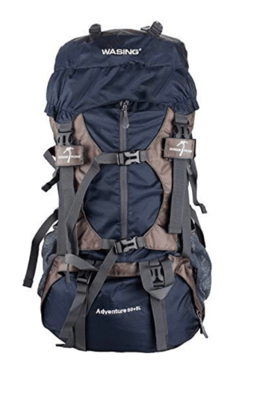 WASING 55L Internal Frame Backpack for Outdoor Hiking